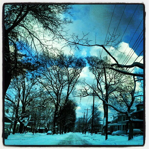 #weather #eriegram #winter #snow #moresnowpictures #ice #erie #eriepa #trees #instanature #instatrees #blue #sky #clouds #instagood #morning #goodmorning