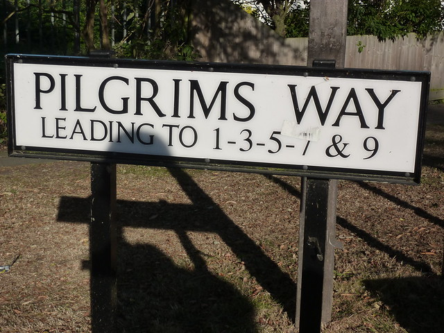 "Final street called ""Pilgrims Way"" on the North Downs Way"