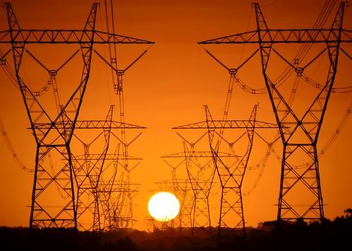 sunset sky orange sun silhouette golden nikon skies australia victoria powerlines vic highvoltage gippsland yarragon transmissionlines d5100 moeriver nikond5100 phunnyfotos