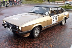 race car, automobile, vehicle, performance car, ford capri, ford, antique car, sedan, classic car, land vehicle, coupã©, sports car,