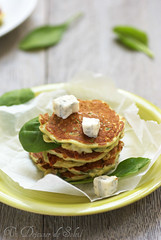 Pancakes aux épinards et gorgonzola