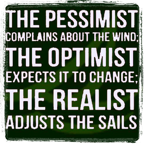 Pessimistic Optimistic Realistic Quotes