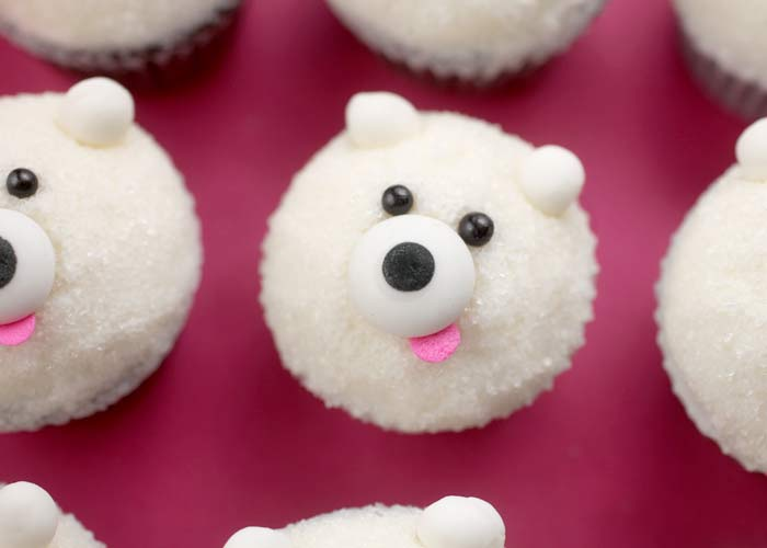 Mini Polar Bear Cupcake