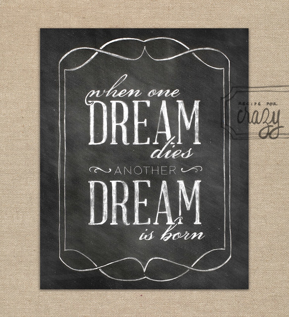 Another dream is Born - 8x10 Chalk Art Print