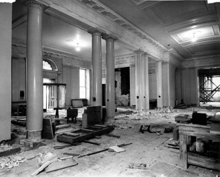 White House Lobby During the Renovation, 12/27/1949