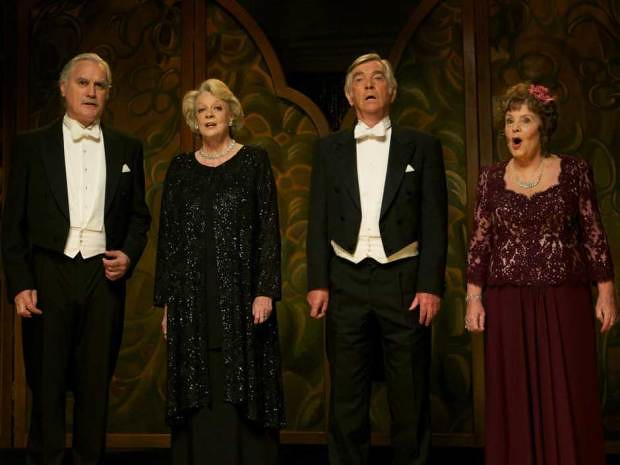 (L-R) Billy Connolly, Maggie Smith, Tom Courtenay and Pauline Collins make for a perfectly contrived QUARTET.