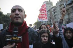 Ahmed Harara at Anti Sexual Harasment March to Tahrir