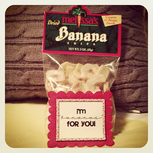Day 8 of 14 Days of Love! Brian hates real bananas, so I got these!