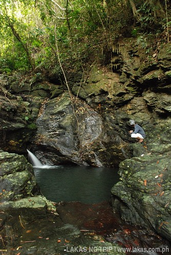 Second level basin of Agbaliga Waterfalls in Romblon Island, Romblon, Philippines