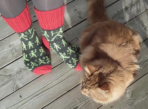 Sokker med små grønne menn