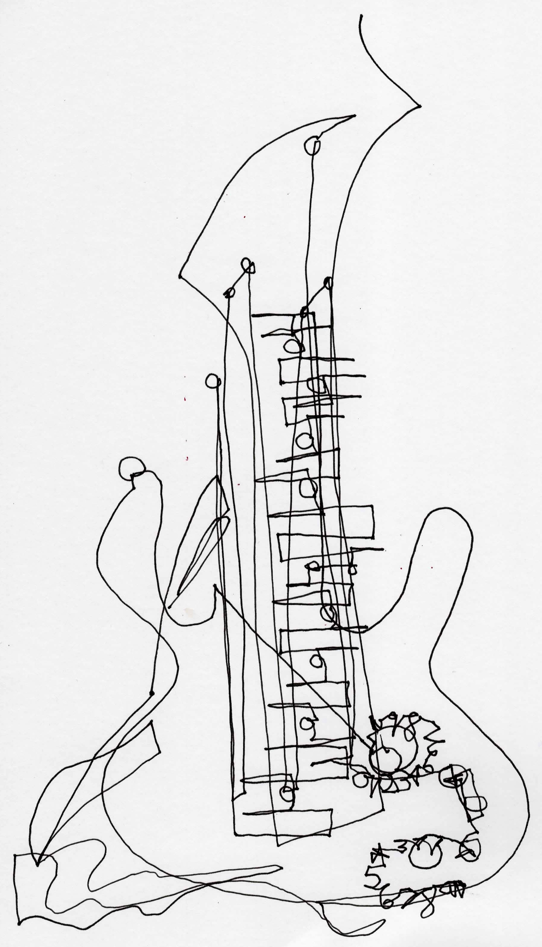 electric guitar coloring pages for kids