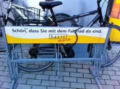 Schild für Bikes in München