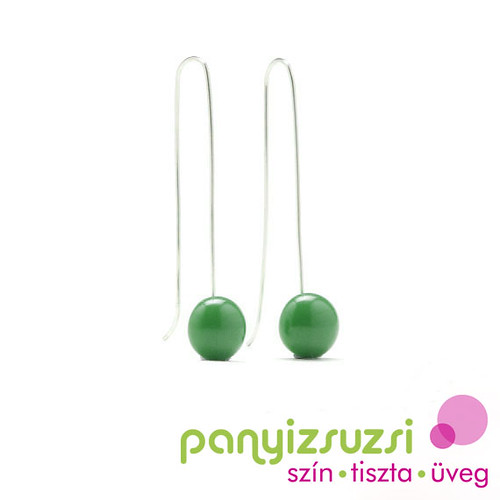 smaragdzöld ezüst fülbevaló