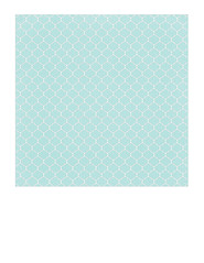 7b Light turquoise Dotted Moroccan tile SMALL SCALE - 7x7 inch
