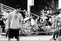 """""""男望籃"""" (Basket gazing men) / 香港灣仔修頓球場 Southorn Playground, Wan Chai, Hong Kong / SML.20130211.7D.23002.C23.BW"""