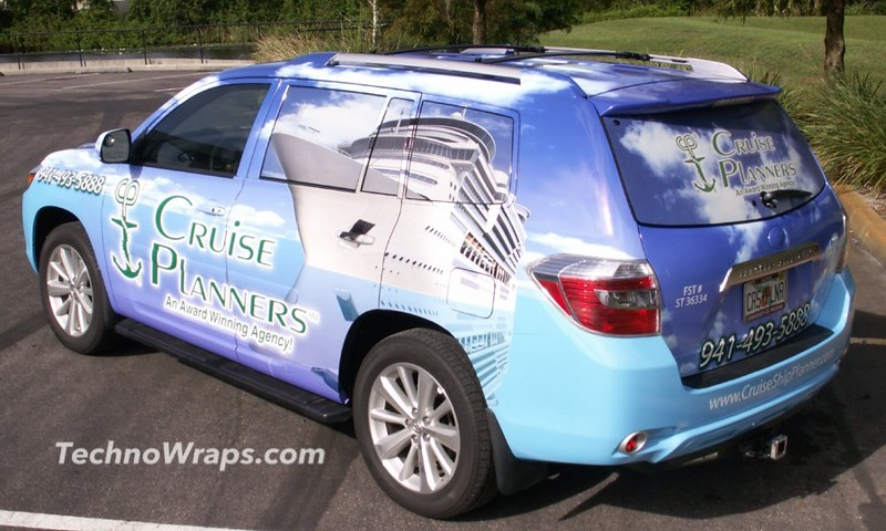 SUV vehicle wrap in Orlando
