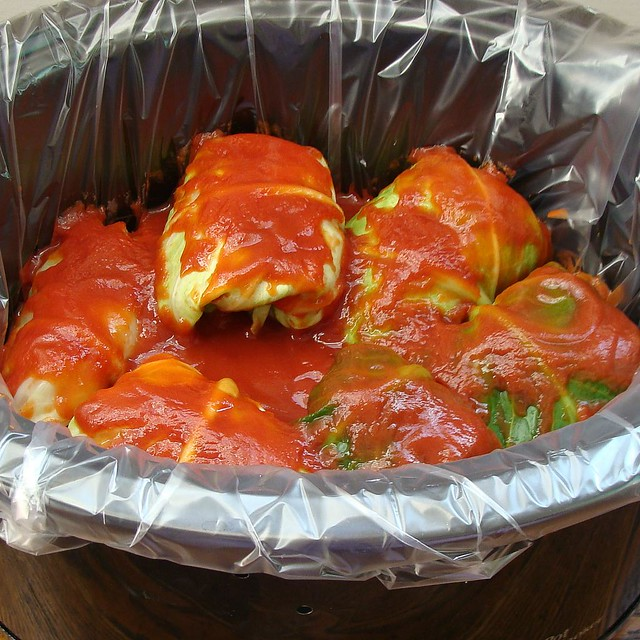 Slow Cooker Cabbage Rolls.
