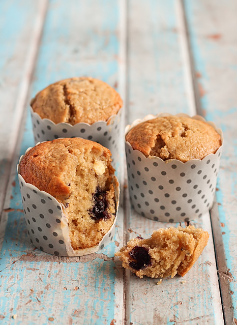 Blueberry, White Chocolate & Lime Muffins | Flickr - Photo ...