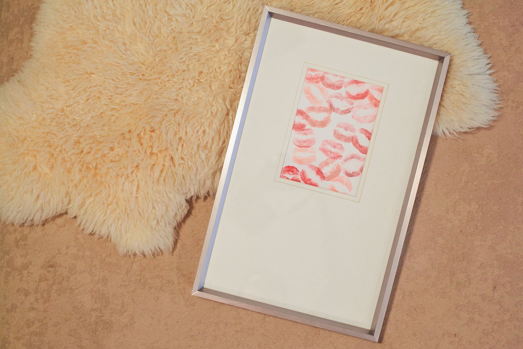 Lipstick Print DIY for Valentine's Day featured by top US lifestyle blog, Fresh Mommy Blog