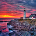 Portland-Head-Light-at-Sunrise-from-Fort-Williams-Park by Captain Kimo