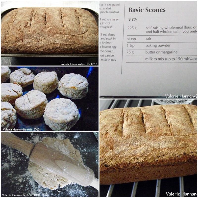 sour dough bread plain scones