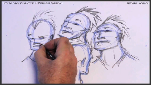 learn how to draw characters in different positions 018