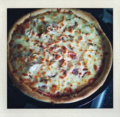 One dough - two kinds of Pizza: Thin Crust Flammkuchen and American Style Deep Dish Pan Pizza