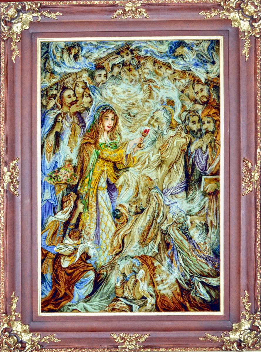 Nikfarjam Wool Persian Tableau Rug Pictorial Carpet