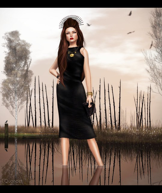 Kunglers Ariana Dress - Raven