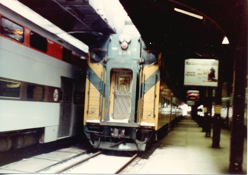 Chicago's NorthWestern Station.  Chicago Illinois.  January 1984. by Eddie from Chicago