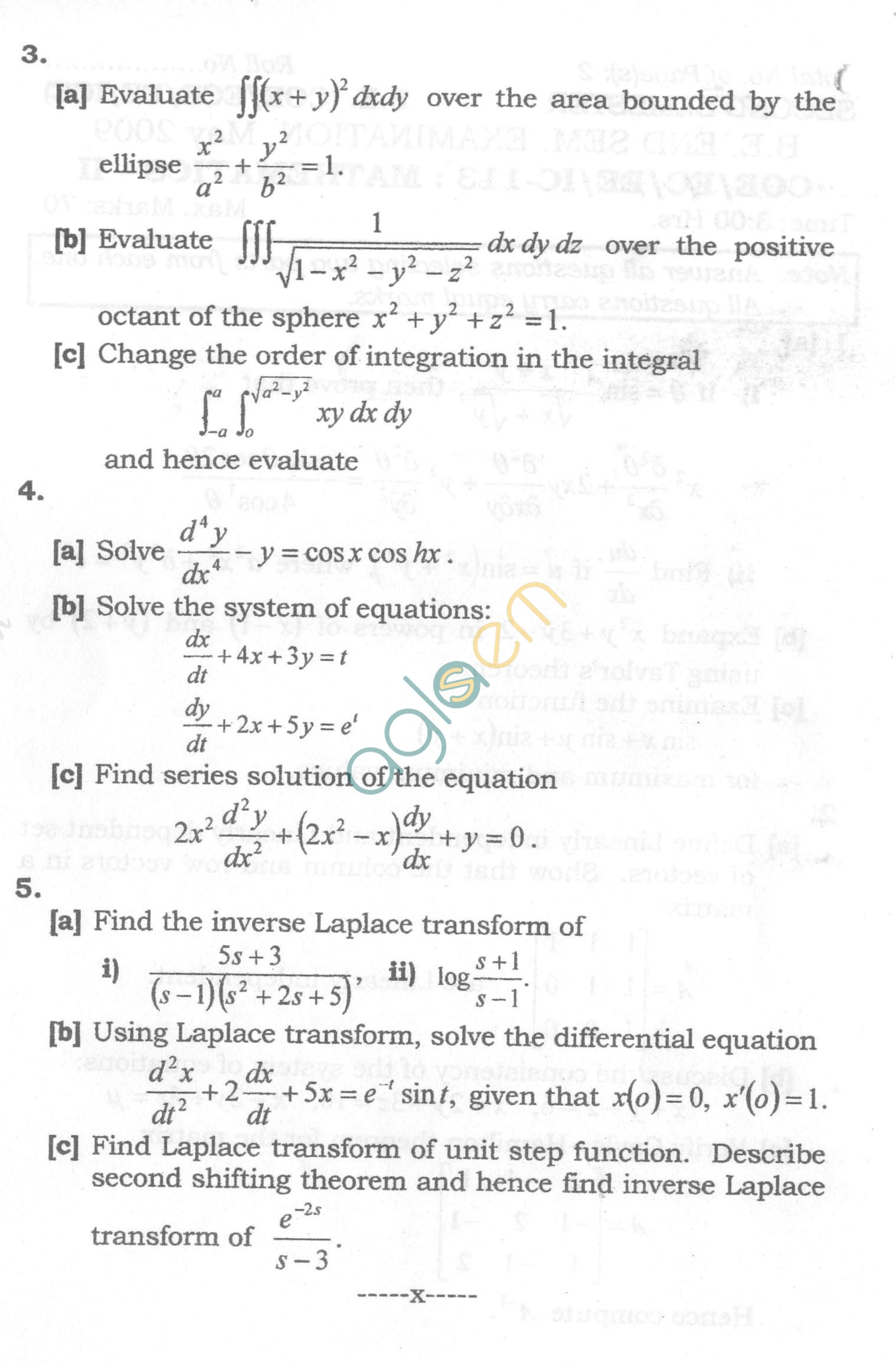 NSIT: Question Papers 2009 – 2 Semester - End Sem - COE-EC-EE-IC-113
