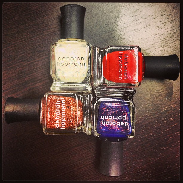 Obsessed with the new @deborahlippmann polishes I scored from @cuspbynm! Now to decide which one ill use first!