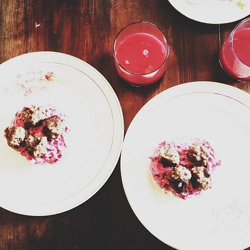 purple breakfast.