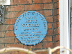 Photo of Nevil Shute Norway blue plaque