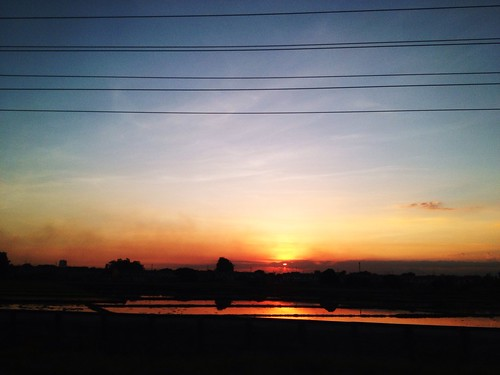 sunset at NLEX
