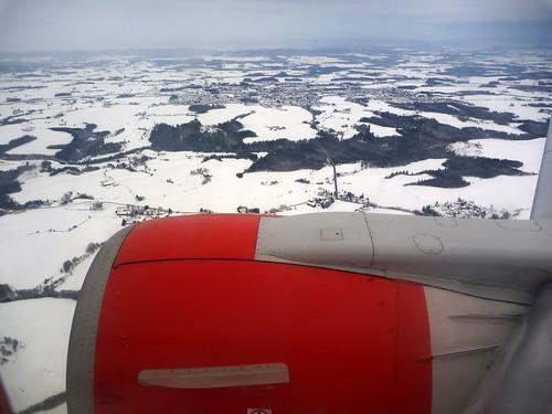 La Norvège vue du ciel en hiver