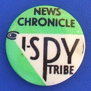 I-Spy (News Chronicle) - membership badge (1950's)