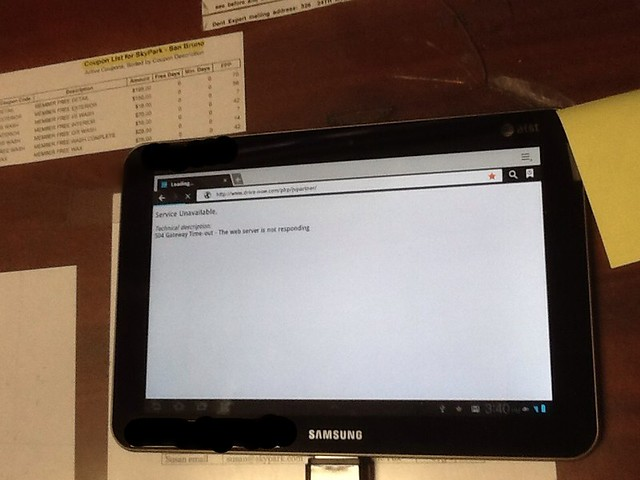 DriveNow Tablet Error