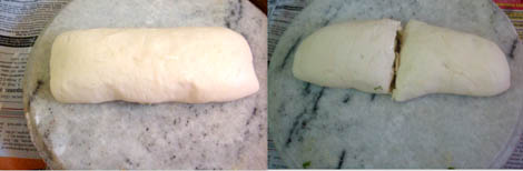 prepare eggless garlic rolls