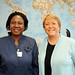 UN Women Executive Director Michelle Bachelet meets with Minister of Togo