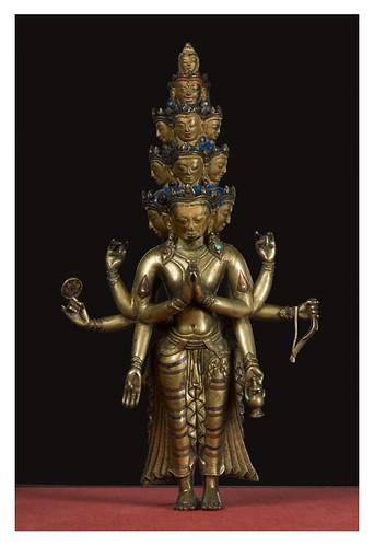 006-Las once cabezas del bodhisattva Avalokiteshvara-Oeste del Tibet 1300-Copyright © 2011 Asian Art Museum