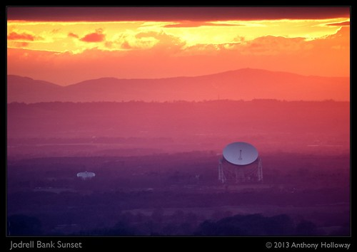 Jodrell Bank Sunset