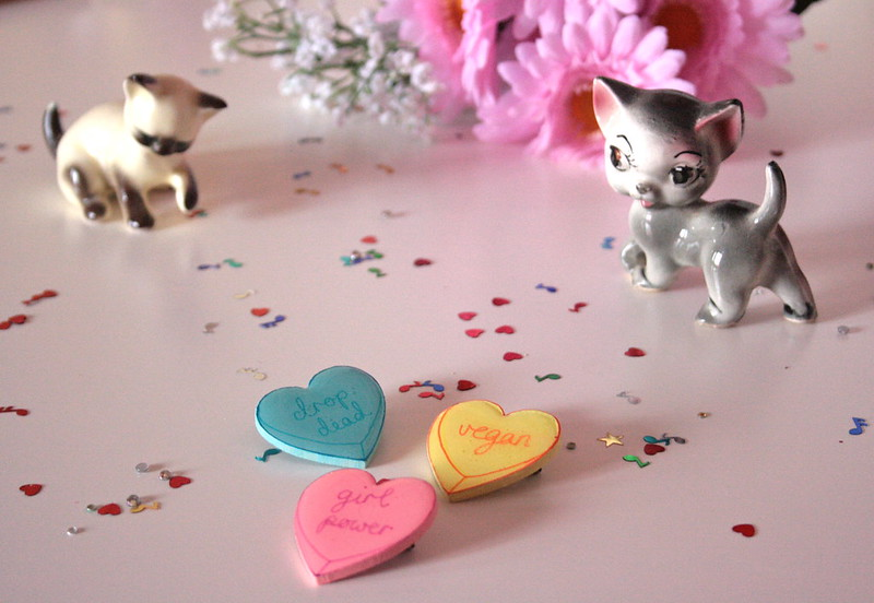Sweet heart insult brooches