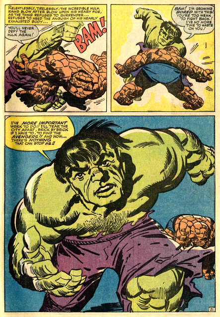 FANTASTIC FOUR 25 1964 Hulk page by Kirby