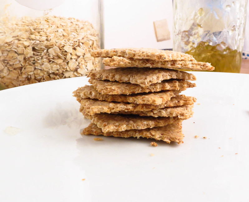 Scottish Oatcakes stacked on plate