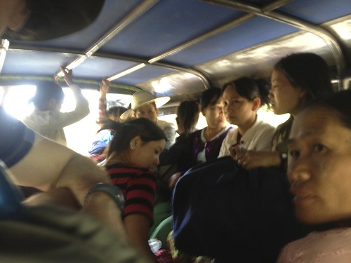 on our way back to Mandalay from Pyin Oo Lwin, our pickup was more packed. perhaps because it was all downhill