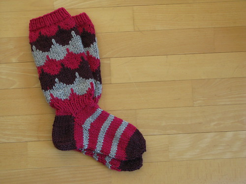 Knitted socks for a friend