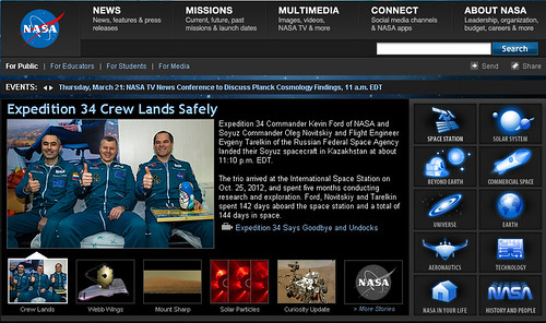 www.nasa.gov screenshot 16 marzo 2013