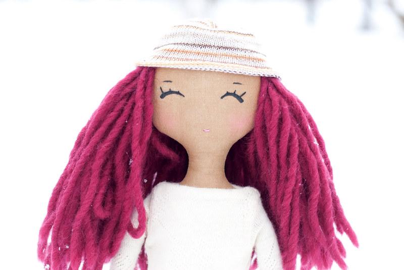 red hair doll