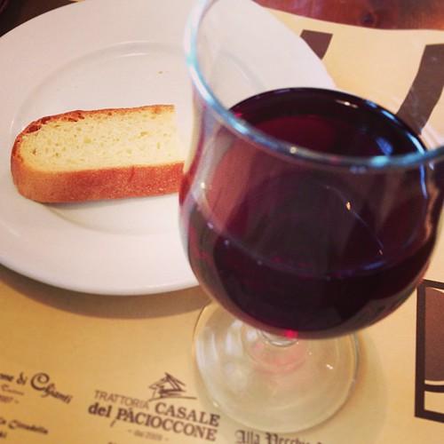 パンとワイン、それだけ食し傷を塞ぐ。